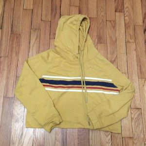 Kohl's Yellow Cropped Hoodie